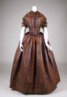 Dress Date: 1845–50 Culture: American Medium: silk