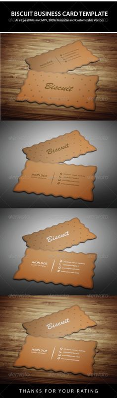 Exclusive Biscuit Business Card Design  #GraphicRiver  An excellent business card template which is suitable for any biscuit company, factory or anything related to this.