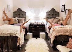 dorm room decor gray pink and white dorm room