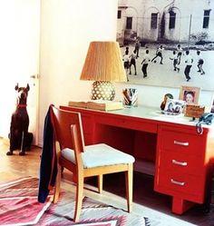 Red desks make me happy.