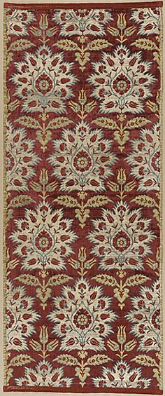 17th Century ottoman silk velvet • carnation and tulip design
