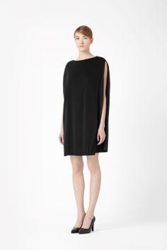 2b066837bd2 Silk detail sleeveless dress Black White Fashion