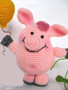 de punto de ganchillo cerdo de juguete
