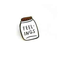 Jar of feelings enamel pin badge. Slytherin, Books And Tea, The Garden Of Words, Jace Lightwood, Quoi Porter, Jacket Pins, Cool Pins, Pin And Patches, Stickers