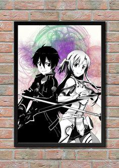 Sword Art Online Kirito Asuna Anime Manga Game by masterofposter