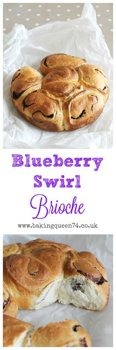 Blueberry Swirl Brioche - perfect breakfast or brunch bake. Homemade brioche dough filled with blueberries filling.