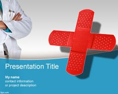 Free Medical Center PowerPoint Template with first aid band aid illustration