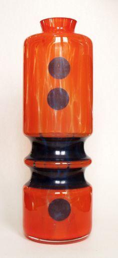 Bohemia Glas, Jan Gabrhel, Chlum u Trebone Antique Glass, Glass Design, Czech Glass, Glass Art, Crystals, Antiques, Bohemian, Vases, Mid Century