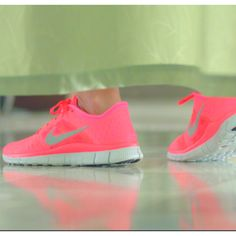 Nike free runs. I saw them at mall of america and i was going to get them...but they were $100. so i said to myself...patience my dear. They will go on sale..eventually. ;)