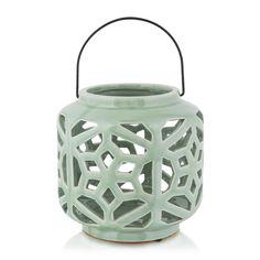 Ceramic Cut-out Lantern Large Candles, Geometric Shapes, Decorative Accessories, Lanterns, Ceramics, Metal, Home Decor, Ceramica, Pottery