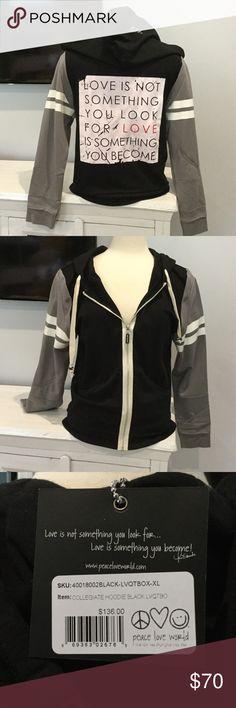 Brand new with tags peace love world Super cute zipie  nwt Peace Love World Tops Sweatshirts & Hoodies