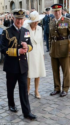 dailymail:  Prince of Wales and Duchess of Cornwall arrive at Bayeux Cathedral for a Service of Remembrance during the 70th Anniversary Commemoration of D-Day, June 6, 2014