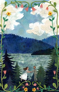 These charmingly nostalgic illustrations are the work of illustrator Phoebe Wahl. The artist had an unconventional childhood growing up in Washington state