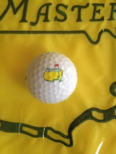 Masters Logo Golf Ball from Augusta National Titleist Velocity #PlayingABetterGolfGame #LearnToPlayBetterGolf