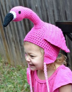Pink Flamingo Geek Kitsch Retro Hat