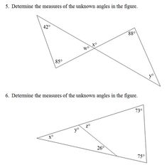 Triangle Interior Angles Worksheet Pdf And Answer Key Scaffolded Questions On This Topic