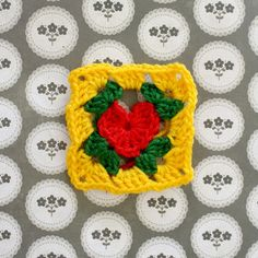 granny's heart - by how to crochet a heart