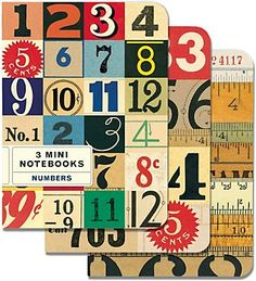 Cavallini Mini Numbers Journals