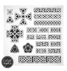 Celtic knots vector 537196 - by Laralova on VectorStock®  I'm definitely getting the stylized tree of life tattoo I pinned previously, but I'm thinking the third knot set down would make an fantastic ankle bracelet tattoo...