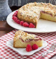 Raspberry Almond Coffee Cake | http://thatskinnychickcanbake.com
