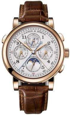 A. Lange and Sohne 1815 Rattrapante 18K Rose Gold Chronograph Men's Watch 421.032