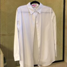 Woman Within button down shirt New, never worn. Dry cleaned once. Pristine condition. Note this is Woman Within's size M, which is a 14/16. Woman Within Tops Button Down Shirts