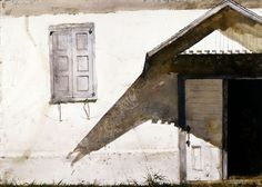 Shuttered, Andrew Wyeth, 1980. Watercolor.