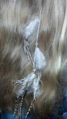 Natural feather hair clip extension by 4FendersFarm on Etsy, $10.00