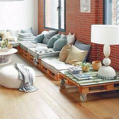 Pallet coutches and coffee table