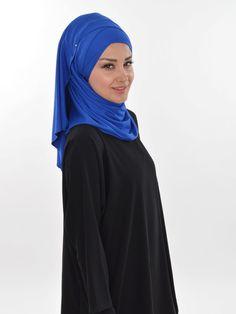 Ready to wear hijab, Cross Practical Shawl Cotton, Turban, Hijab, Tesettur, Shawl, CPS-0031 Sax Blue by MelikesDesign on Etsy