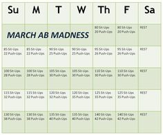 Follow up Fab Abs February with March Abs Madness!