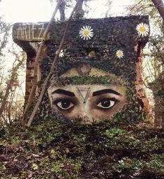 """""""When Street Art meets nature"""" Work by Artez  #streetart and #graffiti Best of  https://streetart360.net/2017/01/01/street-art-best-of-2016/ …"""