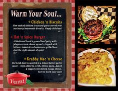 Warm Your Soul...February Monthly Specials 2013 #Mac #Comfort Food #Burgers #Spicy