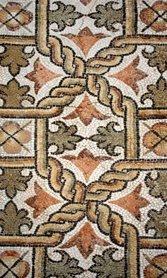 Roman Mosaic, Sabratha. | Lifted mosaic from the Church of V… | Flickr - Photo Sharing!