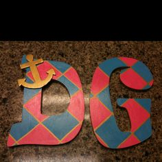 Letters I painted for my friend who is a Delta Gamma