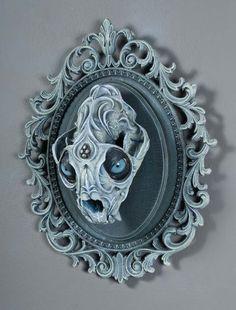 Mind-Bending Twisted Fantasy Animal Skulls Sculptures By Chris Haas -  #art #artist #creepy #fantasy #sculptures #skulls