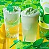 Nonalcoholic Fizzy Patricks: lime sherbet, ginger ale or lemon soda and a tall glass. For extra festive fun, garnish with a green Krazy Straw and a St. Patrick's Day drink pick.