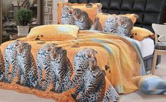 The Leopard is one of the most powerful cats in the world, now you can capture a realistic portrait of these felines together all on one bed spread coverlet. This is one of the favorites in bed spread for Safari and Leopard lovers. #BedSet