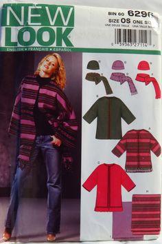 New Look 6296 Misses' Fleece Jacket, Hat, Scarf and Blanket