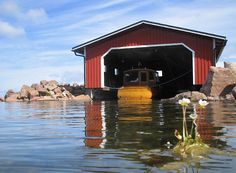 Archipelago~ seems a bit rocky for Cedarville or Hessel.  Perhaps this is further east toward Detour?