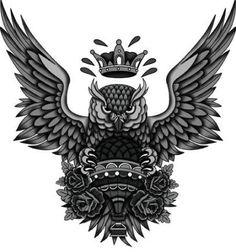 Tattoo Back Owl Black 67 Ideas Tatto Old, Old Tattoos, Black Tattoos, Body Art Tattoos, Sleeve Tattoos, Owl Neck Tattoo, Owl Tattoo Chest, Neck Tattoo For Guys, Tribal Owl Tattoos
