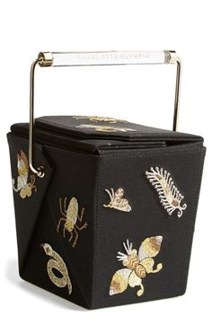 5d081c61ea13 Charlotte Olympia  Take Me Away  Satin Box Clutch available at  Nordstrom  Novelty Bags
