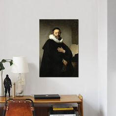 East Urban Home 'Portrait of Johannes Wtenbogaert, 1633' by Rembrandt van Rijn Print on Canvas Size: