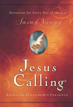 """""""""""Jesus Calling"""" is a devotional filled with uniquely inspired treasures from heaven for every day of the year. After many years of writing in her prayer journal, missionary Sarah Young decided to """"listen"""" to God with pen in hand, writing down whatever she believed He was saying to her. It was awkward at first, but gradually her journaling changed from monologue to dialogue""""."""