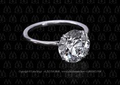 Princessa solitaire elegant thin engagement ring by Leon Mege