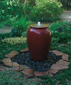 Pondless Water Feature made with Urn