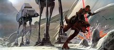 Original Star Wars Storyboard Illustration
