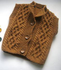 Hand knit baby vest, Brown baby vest, Knitting baby boy vest, Baby girls vest, Knit kids vest, Baby vest 6-9 months, Warm baby vest