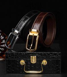 Leather Belts, Cow Leather, Alligator Belt, Belted Dress, Crocodile, Men's Fashion, Logo Design, Lifestyle, Classic