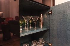 Or an elegant drinks cabinet in a quite corner of the room. Designed by one of our designers for a client in Kensington.